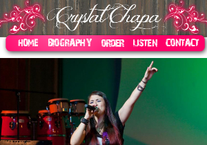 Custom Website - Crystal Chapa